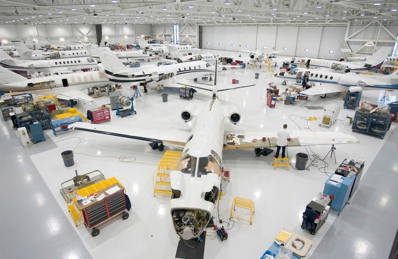 Inside a Textron Aviation facility in Wichita, Kansas