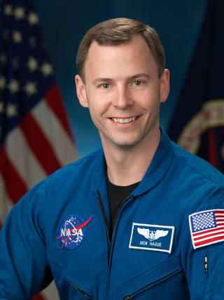 Astronaut Nick Hague grew up in Hoxie.