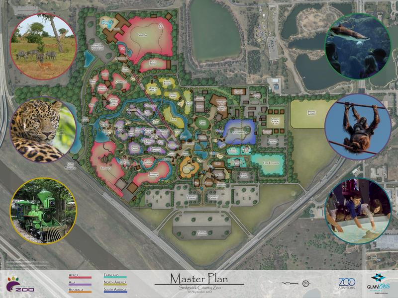 A rendering of future additions and renovations to the Sedgwick County Zoo.