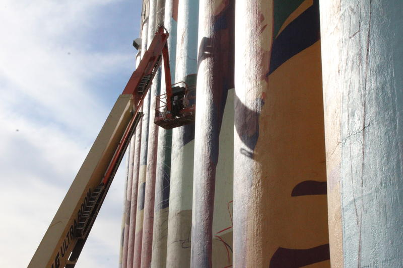 Horizontes' mural in North Wichita is over 50,000 square feet.