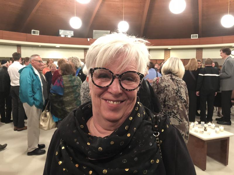 Susan Norton says the unity service at the Wichita temple helped ease the emptiness and frustration she felt over the Pittsburgh synagogue shooting.