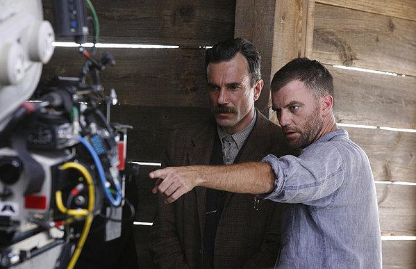 Daniel Day Lewis and Paul Thomas Anderson on the set of There Will Be Blood.