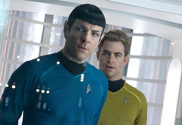 Spock and Kirk assess the situation in 'Star Trek Into Darkness'