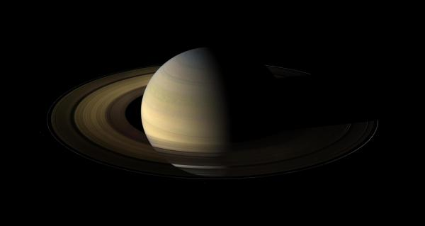 The seventh planet in the solar system, Saturn.
