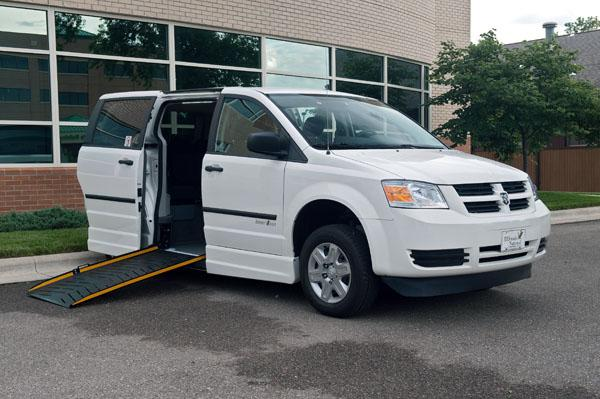 An accessible minivan manufactured by ElDorado National in Salina, Kan.