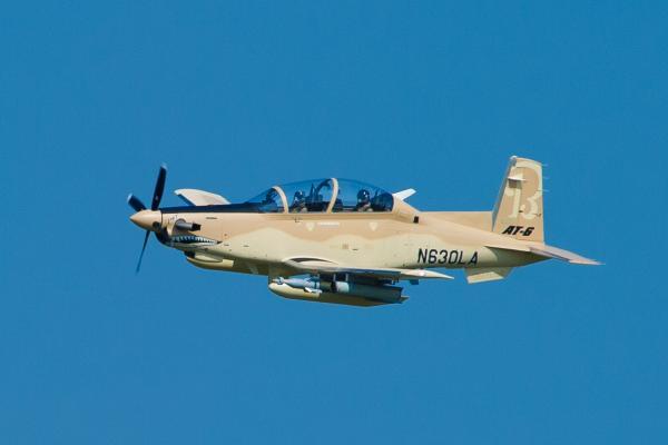 Beechcraft's AT-6 light attack aircraft.
