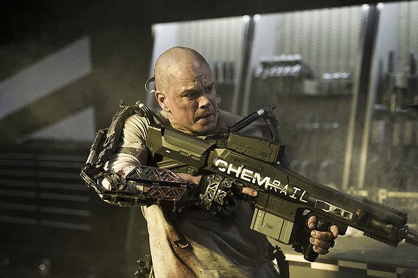 Matt Damon is really just after medical help in 'Elysium.'