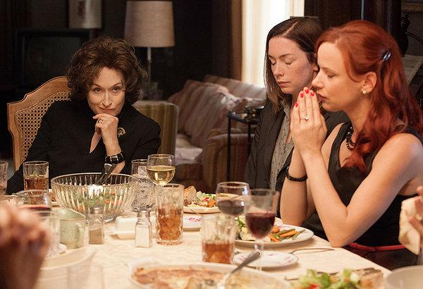 In August: Osage County, Meryl Streep becomes a villain and performs it in a suitably over-the-top fashion.