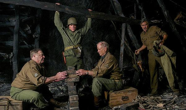 The Monuments Men spend a lot of dangerous time behind or alongside the lines, but their heroics are almost incidental.