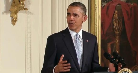 President Obama speaking at the prayer breakfast.
