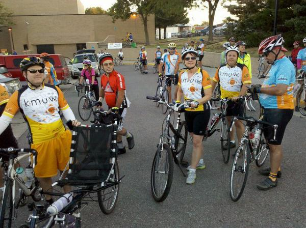 KMUW's Fletcher Powell and Denise Irwin were among the participants in the 2012 Bike MS Kansas ride.