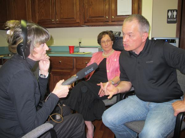 Dr. Scott Stringfield and Marilyn Manweiler of Choices Medical Clinic speak with KMUW's Aileen LeBlanc.