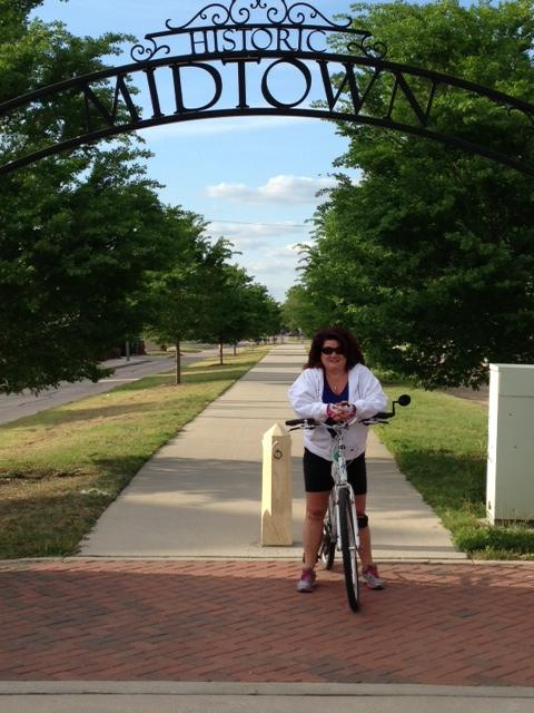Rhandalee enjoys Wichita's bike paths, especially the Midtown Path, which is near her home.