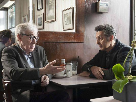 Woody Allen and John Turturro discuss the finer points of their profession in 'Fading Gigolo'