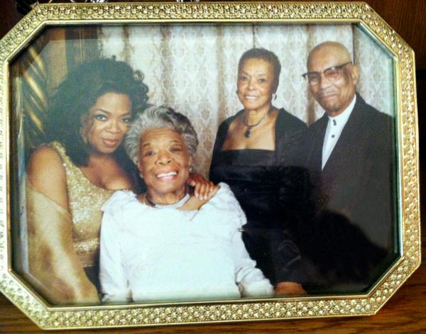 Oprah Winfrey, Maya Angelou and Wichitans Emilyn and Dr. George Rogers.
