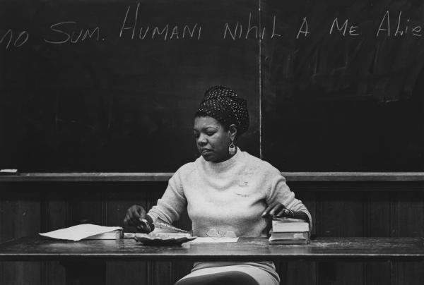 Maya Angelou as a teacher at Wichita State University