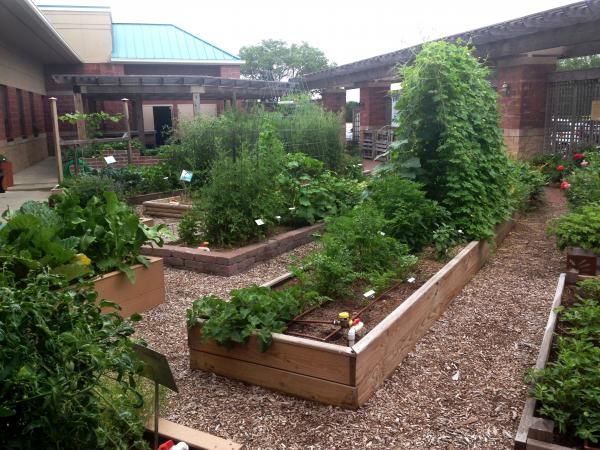 "The ""demonstration garden"" at the Sedgwick County Extension office in Wichita."