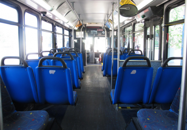 The inside of a current Wichita Transit bus