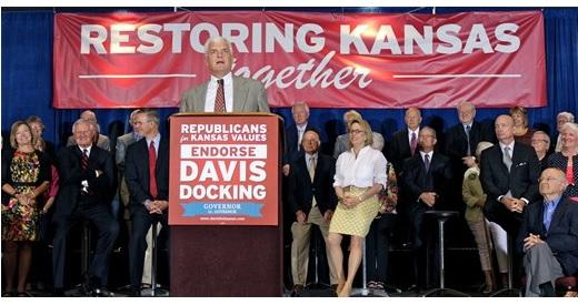 Wint Winter, a former state senator from Douglas County, and more than 100 other current and former elected officials who are Republicans endorsed Paul Davis and Jill Docking, the Democratic candidates for Kansas governor and lieutenant governor, at an event Tuesday in Topeka.
