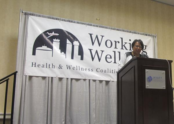 KMUW Assistant News Director Carla Eckels emceed the 10th annual Working Well Award ceremony Tuesday morning, August 26th, at the Hyatt in Wichita.