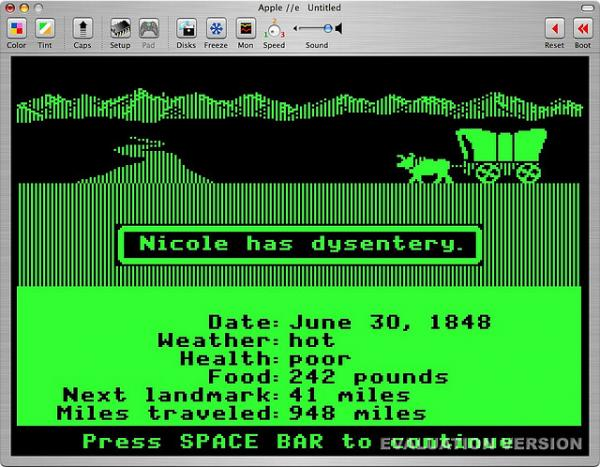 An 'Oregon Trail' player meets an untimely demise