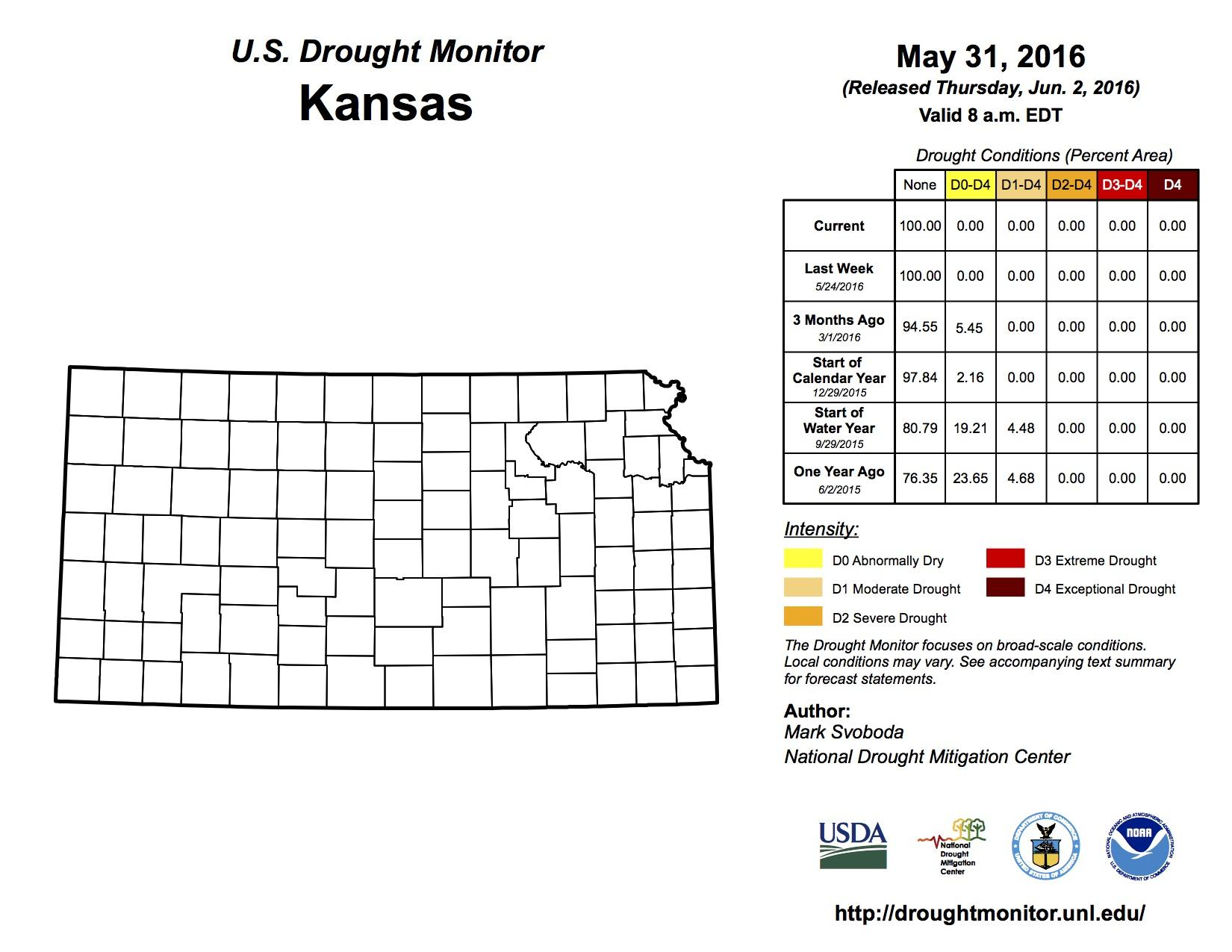 Kansas Drought Free For The First Time Since 2011 Kmuw Sustainer Wiring Diagram Credit Http Droughtmonitorunledu
