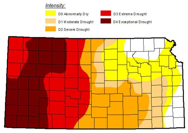 Awesome Kansas Drought Map Pics - Printable Map - New ...