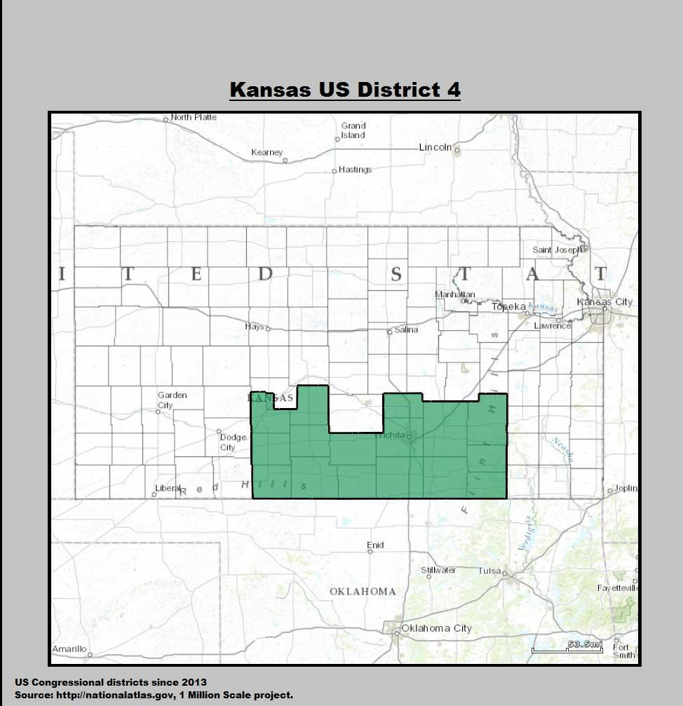 Independent Candidate Enters Th Congressional District Race KMUW - Map of us senate districts in kansas