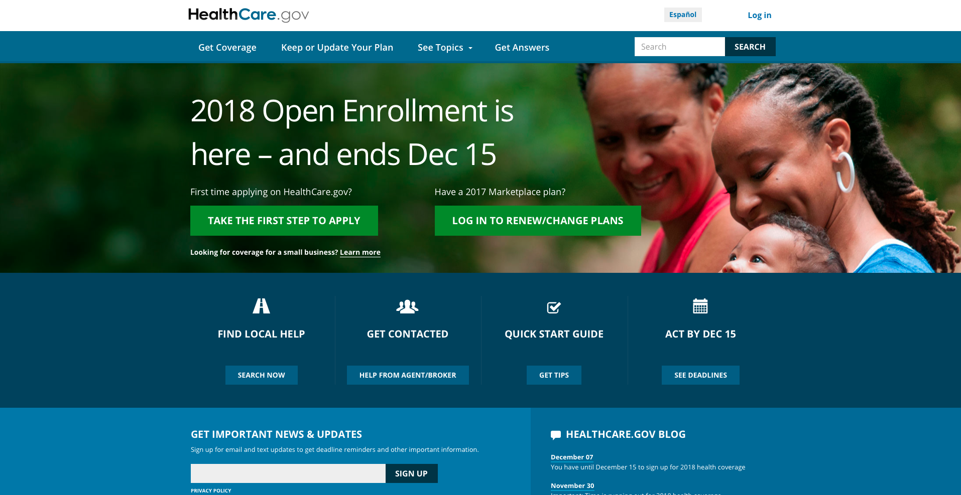 ACA enrollment deadline rapidly approaching