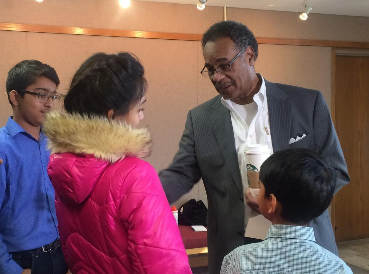 Congressman Cleaver visits Syed Jamal in Texas