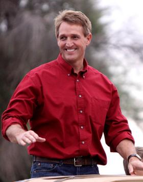 Jeff Flake at the 2011 Veterans Day parade in Phoenix, Arizona.