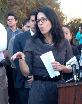Alessandra Soler, Exec. Dir., ACLU Arizona, explains a lawsuit filed Thursday challenging Gov Brewer's order denying state driver licenses to thousands of illegal immigrants who qualify for the federal ``deferred action'' program.