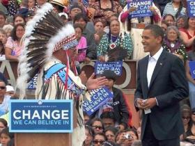 President Obama meets with American Indian leaders at the first annual Tribal Nations Gathering.