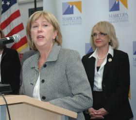 Judy Rich, President and CEO of Tucson Medical Center, says Gov. Jan Brewer's plan to expand the state's Medicaid program will help her hospital deal with the rising number of people who are getting care but unable to pay.