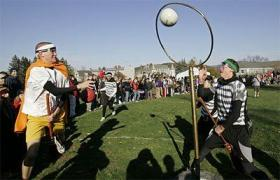 First U.S. Intercollegiate Quidditch Tournament, Middlebury College, Middlebury, VT, 2007.