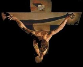 Crucifixion painting by Salvador Dali