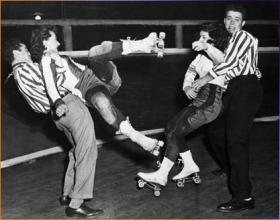 Derby bout from the 1950's