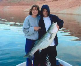 Fishing on Lake Powell