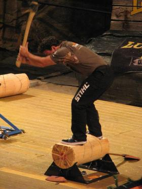 David Gouveia, timbersports champion