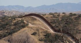 The Arizona border wall near Nogales.
