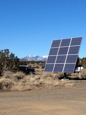 One of the many solar panels at The STAR School east of Flagstaff