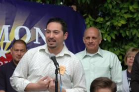 Rep. Martin Quezada (left)