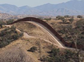 The Arizona border with Mexico