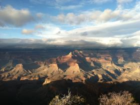 The view from Shoshone Point at the South Rim of the Grand Canyon