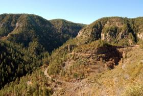 The switchbacks of Hwy. 89A between Flagstaff and Sedona.