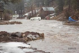 A flood in Kachina Village in 2004.