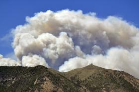 Smoke from the Schultz Fire in 2010