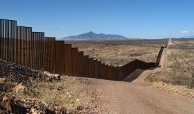 The wall on the U.S.-Mexico border.