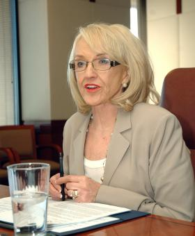 Gov. Jan Brewer may veto the state budget in its current form passed by the state Senate.