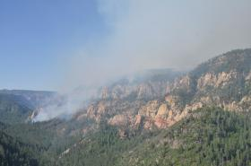 The Slide Fire as seen from the Oak Creek Vista Wednesday morning.